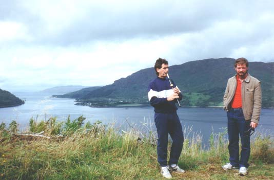 Bill Livingstone, Bruce Gandy by Loch Carron