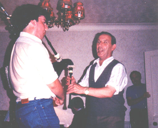 Duncan Johnstone on chanter, Michael Grey on pipes, 1983