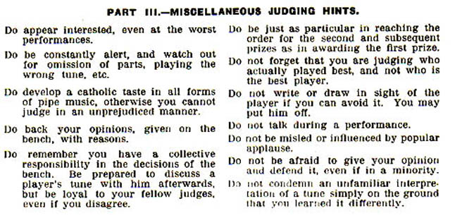 A Guide to the Judging of Piping, College of Piping (Glasgow)1954