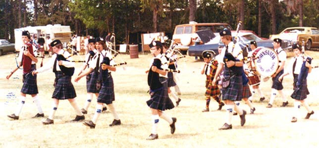 Downsview Junior Pipe Band, Alma, Michigan, 1977