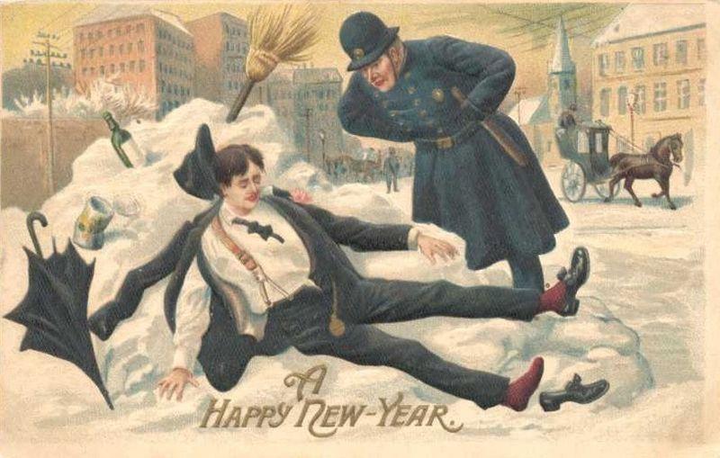 A Happy New Year circa 1912