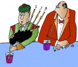 super hilarious bagpipe cartoon