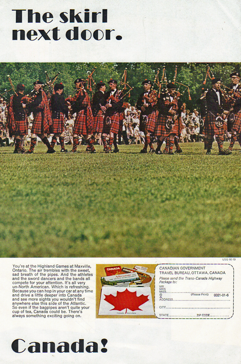 The Worcester Kilties Pipe Band - Maxville, Ontario 1960s