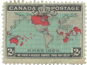 "1898: Canada offers the world's first ""Christmas Stamp"""