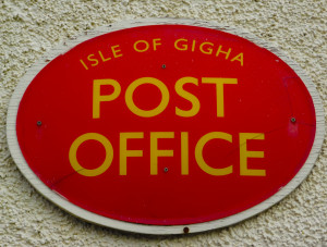 isle of gigha post office sign